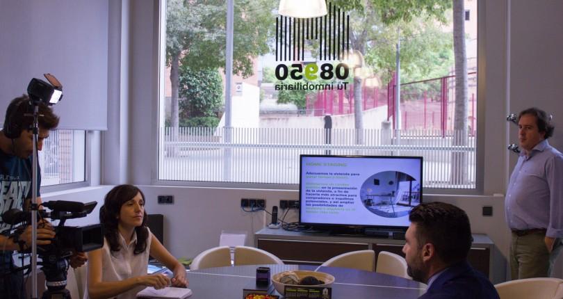 Entrevista con TV3 en nuestras oficinas